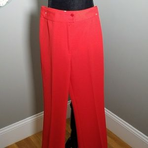 VINTAGE HIGH WAIST RED FLARE PANTS